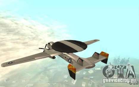 E-C2 Hawkeye для GTA San Andreas вид сзади слева