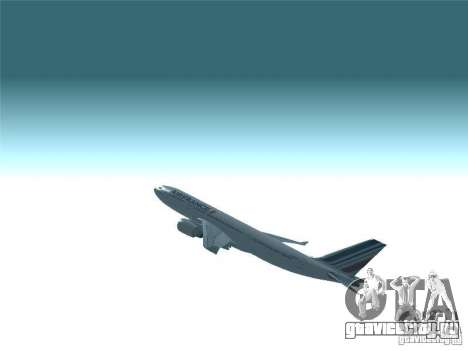 Airbus A330-200 Air France для GTA San Andreas вид сверху