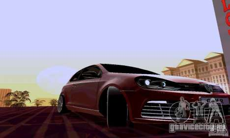Volkswagen Golf GTI 2011 для GTA San Andreas вид сзади