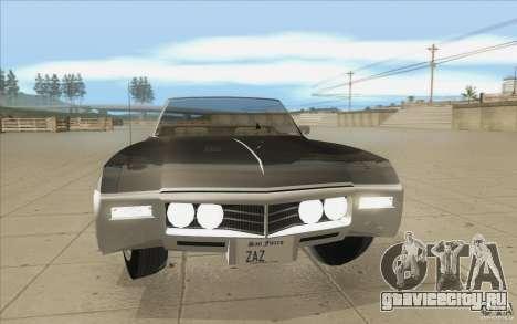 Buick Riviera GS 1969 для GTA San Andreas вид сверху