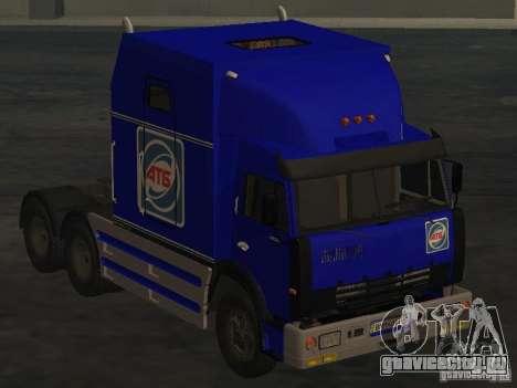 КамАЗ 54112 РИАТ для GTA San Andreas вид сзади слева