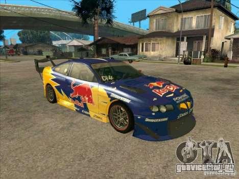 Pontiac GTO Red Bull для GTA San Andreas вид слева
