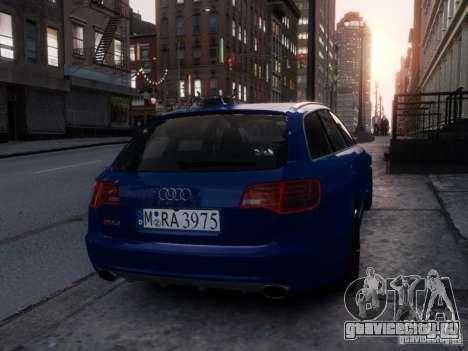 Audi RS6 Avant для GTA 4 вид сзади