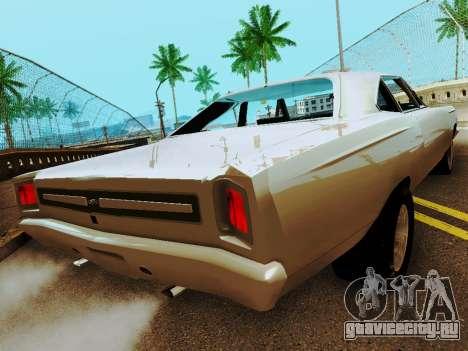 Plymouth GTX для GTA San Andreas вид сзади слева