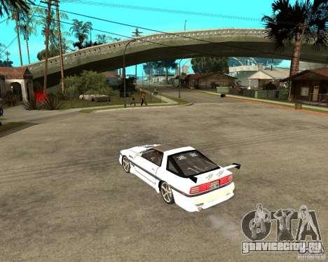 Toyota Supra MK3 Tuning для GTA San Andreas вид сзади слева