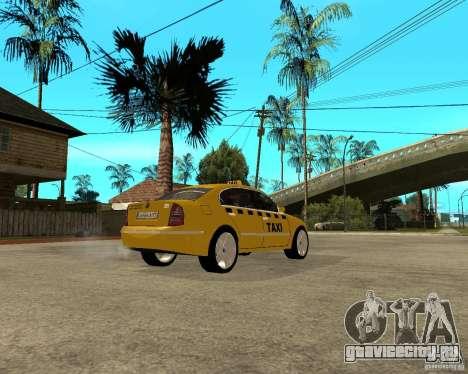 Skoda Superb TAXI cab для GTA San Andreas вид справа