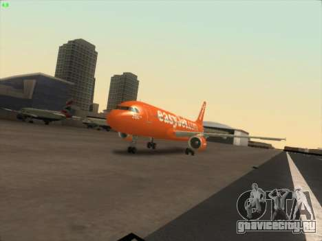 Airbus A320-214 EasyJet 200th Plane для GTA San Andreas вид сзади