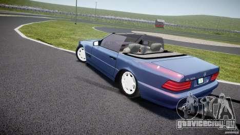 Mercedes-Benz SL500 для GTA 4 вид сзади слева