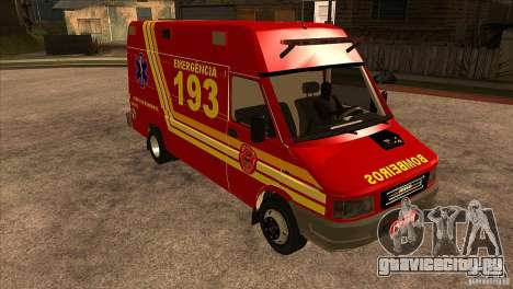 Iveco Daily UR Bombeiros SP для GTA San Andreas вид сзади