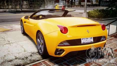 Ferrari California v1.0 для GTA 4 вид сзади слева