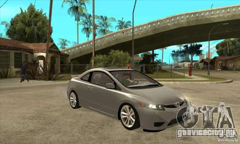 Honda Civic Si - Stock для GTA San Andreas вид сзади