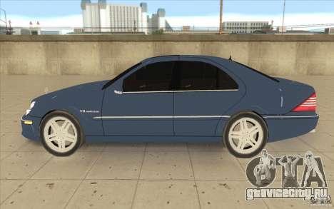 Mercedes-Benz S-Klasse для GTA San Andreas вид слева