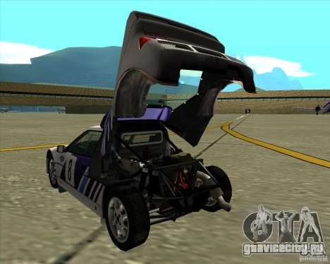Ford RS200 rally для GTA San Andreas вид справа