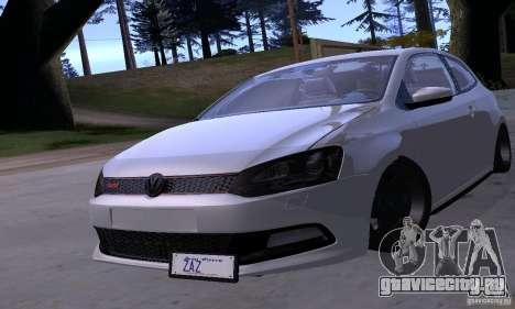 Volkswagen Polo GTI Stanced для GTA San Andreas вид сбоку