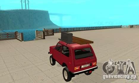 ВАЗ 2121 Нива для GTA San Andreas вид сзади слева