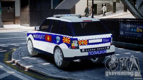 Range Rover Macedonian Police [ELS] для GTA 4 вид сзади слева