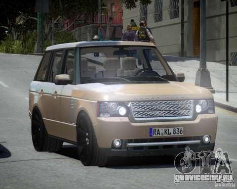 Land Rover SuperСharged для GTA 4 вид сзади слева