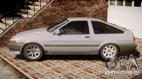 Toyota Sprinter Trueno 1986 для GTA 4 вид слева