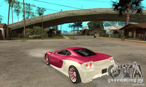 Ascari KZ-1 для GTA San Andreas вид сзади слева