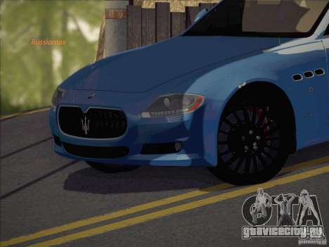 Maserati Quattroporte v3.0 для GTA San Andreas вид сзади слева