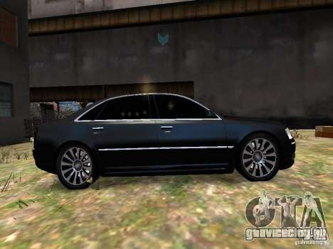 Audi A8L W12 для GTA 4 вид изнутри