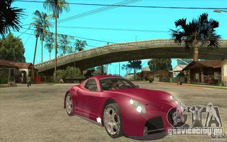 Alfa Romeo 8C GT3 RSX для GTA San Andreas вид сзади