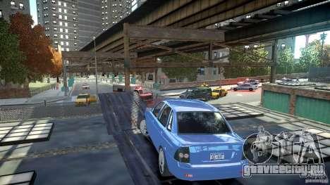 Lada Priora Light Tuning для GTA 4 вид сзади слева