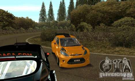 Ford Fiesta Rally для GTA San Andreas вид сзади