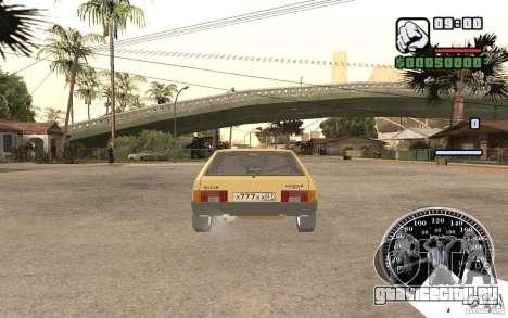 ВАЗ 21093i для GTA San Andreas вид сзади