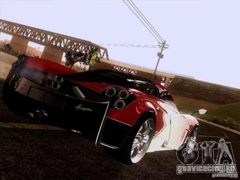 Pagani Huayra 2012 для GTA San Andreas вид сзади