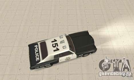 Chevrolet Monte Carlo 1970 Police для GTA San Andreas вид сзади слева