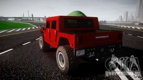 Hummer H1 4x4 OffRoad Truck v.2.0 для GTA 4 вид сбоку