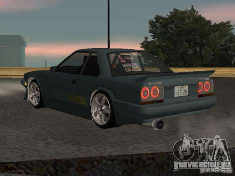Nissan Skyline RS R30 для GTA San Andreas вид сзади