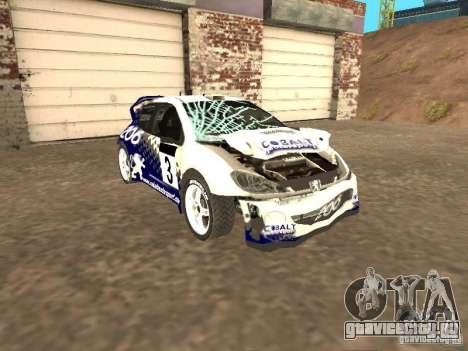 Peugeot 206 WRC из Richard Burns Rally для GTA San Andreas вид изнутри