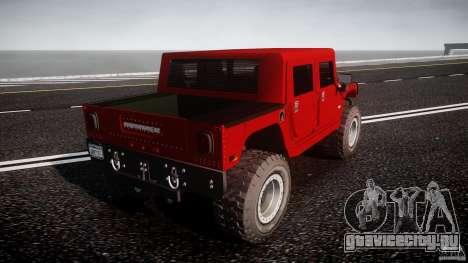 Hummer H1 4x4 OffRoad Truck v.2.0 для GTA 4 вид сзади слева