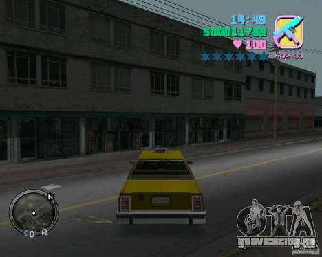 Ford Crown Victoria LTD 1985 Taxi для GTA Vice City вид справа