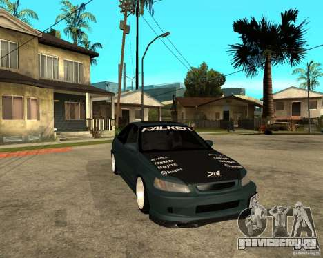 Honda Civic Coupe V-Tech для GTA San Andreas вид сзади