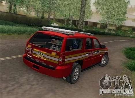 Chevrolet Suburban EMS Supervisor 862 для GTA San Andreas вид слева
