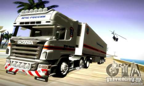 Scania R620 МЧС России для GTA San Andreas вид справа
