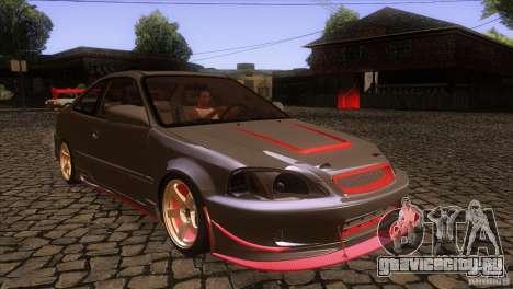 Honda Civic SI для GTA San Andreas вид сзади