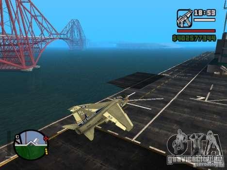 A-7 Corsair II для GTA San Andreas вид слева