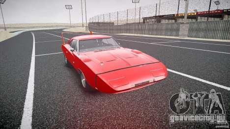 Dodge Charger Daytona 1969 [EPM] для GTA 4 вид сзади