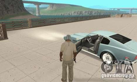 Aston Martin V8 для GTA San Andreas вид сзади