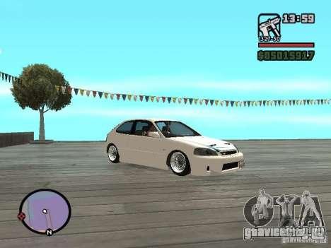 Honda Civic EK9 JDM для GTA San Andreas вид справа