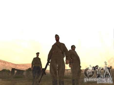 Скин Советского солдата ВОВ для GTA San Andreas третий скриншот