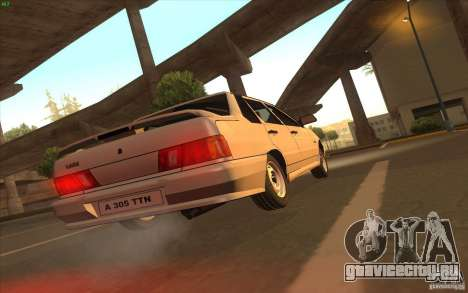 ВАЗ 2115 Stock V 1.0 для GTA San Andreas вид сзади