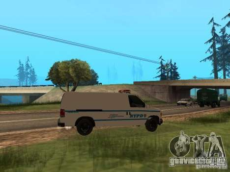 Ford E-150 NYPD Police для GTA San Andreas вид справа