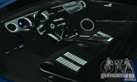 Ford Mustang Boss 302 2013 для GTA San Andreas вид изнутри