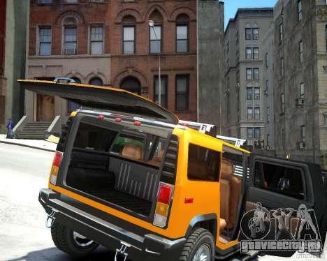 Hummer H2 2010 Limited Edition для GTA 4 вид сзади
