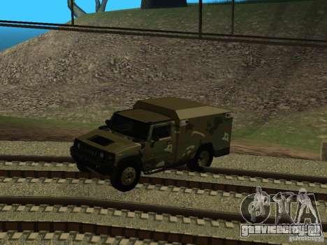 Hummer H2 Army для GTA San Andreas вид изнутри